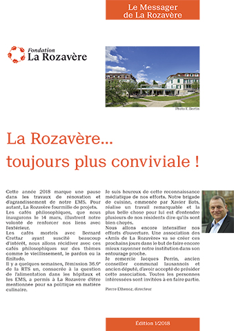 Le Messager de la Rozavère - Edition 1/2018